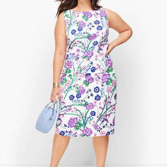 Talbots Sateen Botanical Gardens Sheath Dress