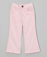 Mulberribush Pink Corduroy Flare Pants - Toddler & Girls