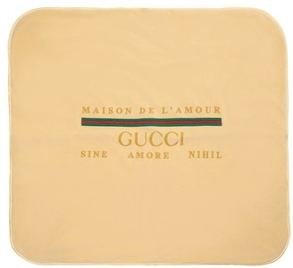 Gucci Logo Embroidered Chenille Blanket