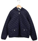 Petit Bateau Boys' Quilted Hooded Jacket w/ Tags