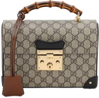 Gucci PADLOCK GG SUPREME TOP HANDLE BAG