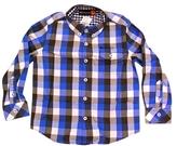 Ben Sherman Kid's Blue Rupert Check Shirt