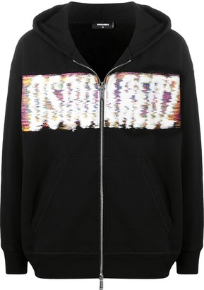 DSQUARED2 Interference Logo Print Hoodie