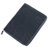 Roberto Cavalli Black Quilted Pattern Leather Ipad Case.