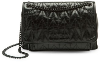 Miu Miu Matelasse Leather Shoulder Bag