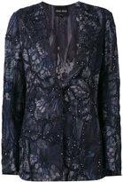 Giorgio Armani sequin embellished jacket - women - Silk/Cotton/Polyamide/Viscose - 42