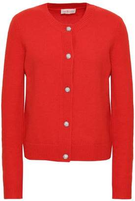 Tory Burch Embellished Wool-blend Cardigan