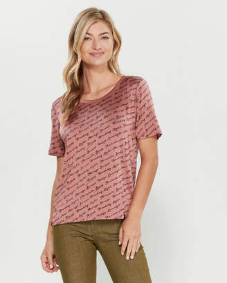 Scotch & Soda Word Art Short Sleeve Relaxed Fit Tee