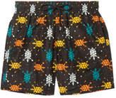 Vilebrequin Mahina Mid-length Printed Swim Shorts - Black
