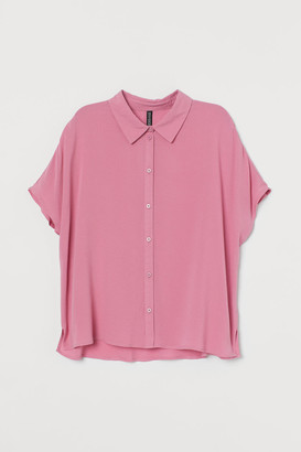 H&M Dolman-sleeved Blouse - Pink