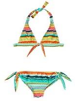 Luli Fama Girls' Bow Bikini Set.