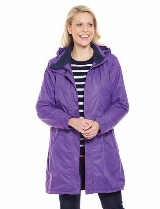 """Amber Ladies Womens Waterproof and Breathable Jacket 36"""" Length Black 16"""