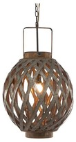 A&B Home Round Wood Iron Pendant Lamp - Grey