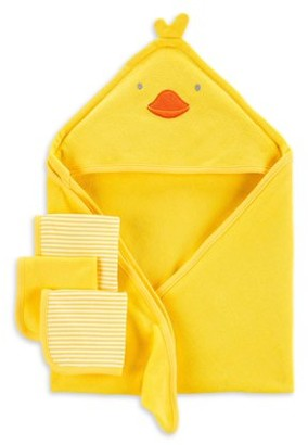 Carter's Child of Mine By Baby Boys or Baby Girls Gender Neutral Duck Towel Set