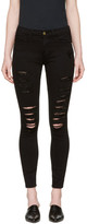 Frame Black 'Le Skinny De Jeanne' Jeans