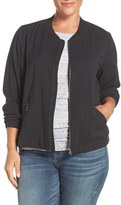 Sejour Plus Size Women's Bomber Jacket