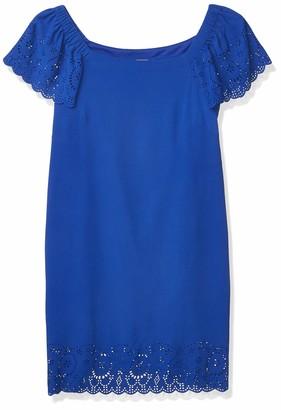 Robbie Bee Women's Petite Convertible Laser Detail Sheath Dress