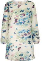 Yumi Butterfly Print Tunic Dress