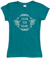 Urban Smalls Peacock 'Follow Your Dreams' Fitted Tee - Toddler & Girls