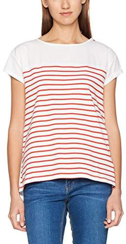 Esprit edc by Women's 057CC1K019 T-Shirt, (Orange RED 635), (Size: M)