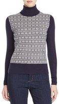 Tory Burch Sabino Jacquard Link Turtleneck Sweater