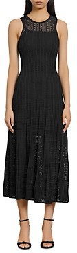 Sandro Aleane Knit Midi Dress