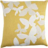 Large Butterflies Pillow- Yellow/Cream