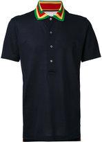 Paul Smith stripe collar piquet polo shirt - men - Cotton - M