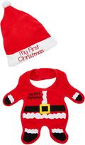 Baby Essentials Red Santa Bib & Beanie Set