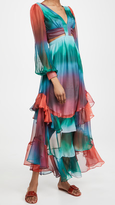 PatBO Sunset Cutout Maxi Dress