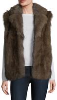 Adrienne Landau Fox Fur Notch Lapel Vest