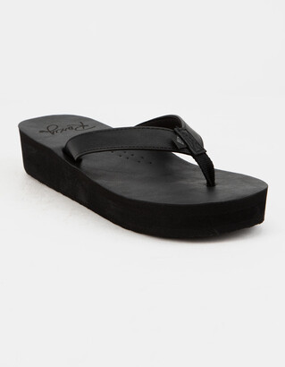 Roxy Melinda Black Womens Platform Sandals