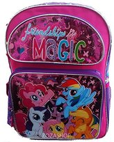 My Little Pony Friendship is Magic and Purple Size Backpack (16in)