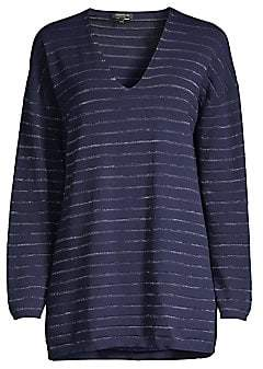Lafayette 148 New York Women's Striped Lurex Pullover