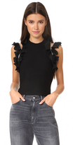 3.1 Phillip Lim Solid Ruffle Sport Tank with Zippers