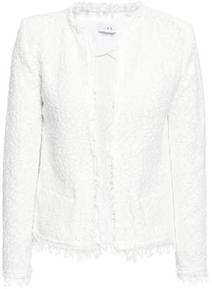 IRO Shavani Frayed Cotton-blend Boucle Jacket