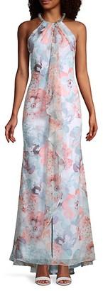 Calvin Klein Chiffon Floral Gown