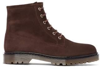 A.P.C. Ezra Lace-up Nubuck Boots - Mens - Brown