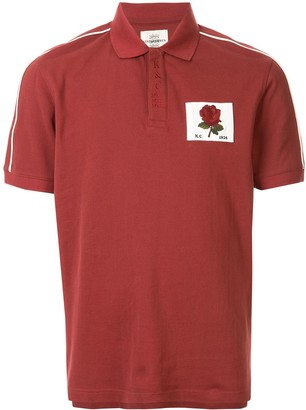 Kent & Curwen Stripe Detail Rose Patch Polo Shirt