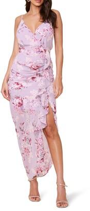 ASTR the Label Floral Ruffle Chiffon Dress