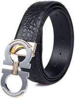 """DDSDS Belts for Men Alligator Pattern Leather Belt 1.3"""" Wide"""