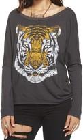 Chaser Tiger Face Long Sleeve - Black