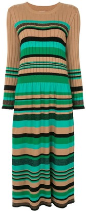 Coohem Ribbed Striped Knit Dress