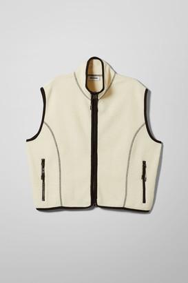 Weekday Malaya Fleece Vest - Black
