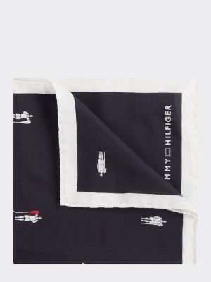 Tommy Hilfiger Pure Silk Rower Print Pocket Square