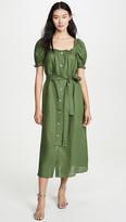 BRIGITTE Sleeper Linen Midi Dress