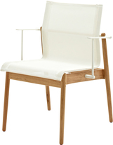 Houseology Gloster Sway Teak Stacking Chair with Arms - White - White
