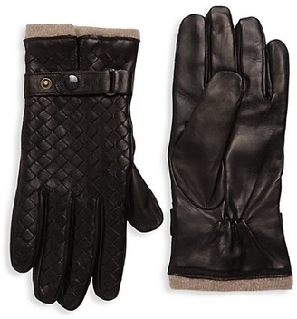 Saks Fifth Avenue Woven Leather Gloves