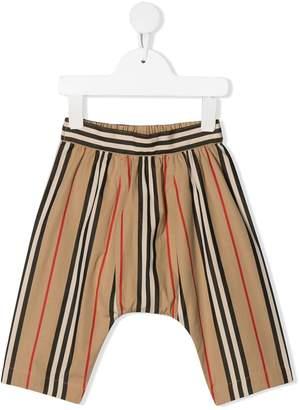 Burberry Icon striped poplin trousers