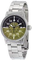 Fortis Flieger Cockpit Automatic Stainless Steel Mens Watch Black & Olive Dial 595.11.16.M
